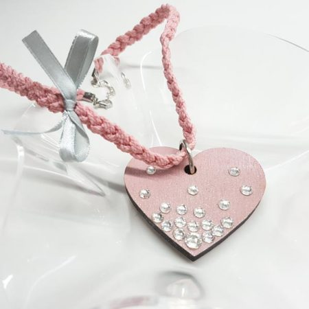 detajl ogrlice big pink heart by tinadesign