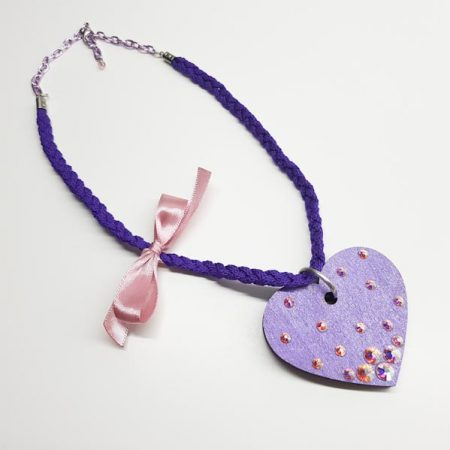 ogrlica big purple heart by tinadesign
