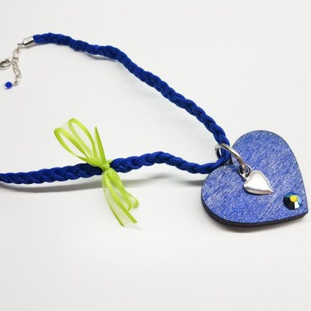 ogrlica blue heart tinadesign