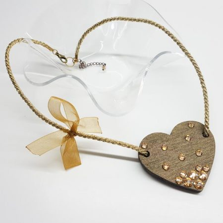 ogrlica golden heart tinadesign