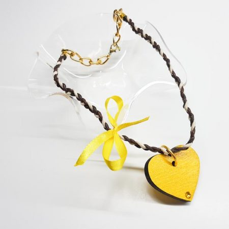 ogrlica yellow heart tinadesign